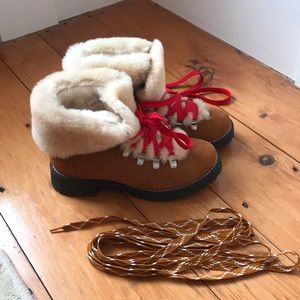 J Crew fur lined nordic boots new 6